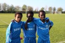 Somaliska Freds fotboll i Kristianstad april 2014