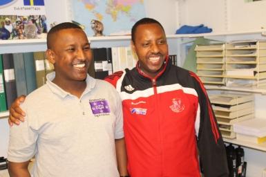 Hashim Abdikarem och Claudien Tuyisabe