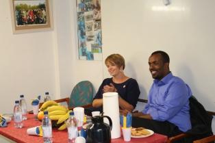 Katrin Stjernfeldt Jammeh och Mubarik Abdirahman besöker Somaliska Freds