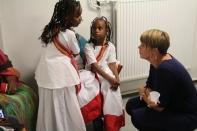 Katrin Stjernfeldt Jammeh besöker Somaliska Freds i Rosengård