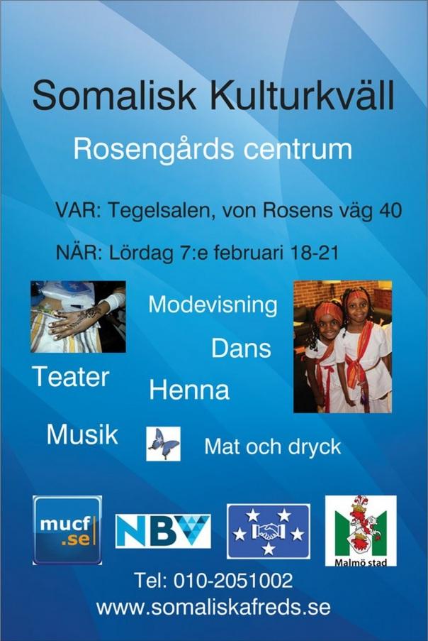 Somalisk kulturkväll 7 februari 2015