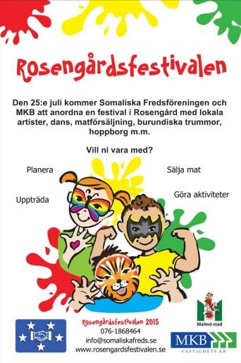 Rosengårdsfestivalen 2015 flyer