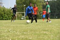 Fotboll Somaliska Freds från Rosengård och Somaliska Kulturföreningen i Tomelilla 6e juni 2015
