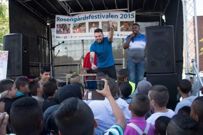 Rosengårdsfestivalen 2015 Somaliska Freds och MKB Ozzy och Kristian Florera