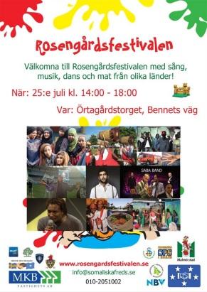 Ny poster Rosengårdsfestivalen