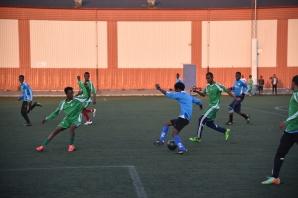Somaliska Freds fotbollslag ensamkommande träningsmatch mot Kristianstad