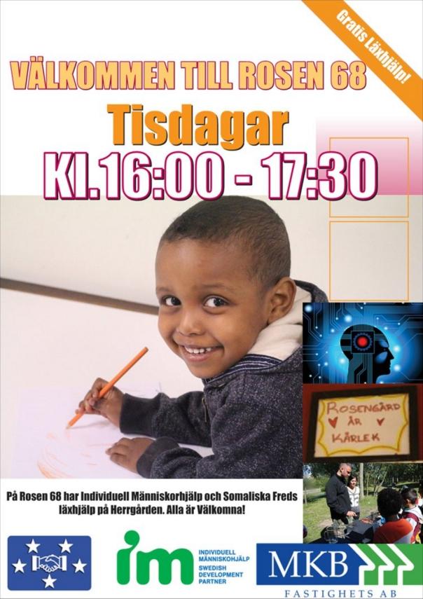Affisch läxhjälp Rosen 68