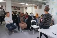 Frida Trollmyr på besök hos Somaliska Freds