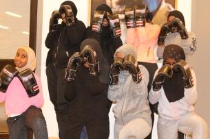 Somaliska Tjejer i Rörelse - Boxning i Rosengårds sporthall
