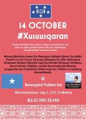 Minnesdag för offren i Mogadishu - Somaliska Freds